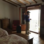 Our room at El Amparo. Large, well furnished, cell service & WIFI.