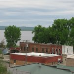 View of Lake Pepin from the rooftop terrace