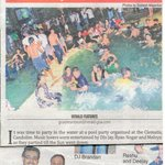 Clematis in news for pool party