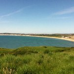 weymouth bay from coastal path