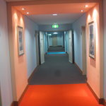 Colorful hallways with mood lighting