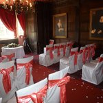 The Oak Room set up for the Wedding