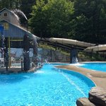waterslide that leads to 6 foot pool at notchville park