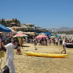 Busy Medano Beach in low season