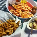 calamari, boiled shrimp, new potatoes