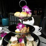 Afternoon Tea set served at The Parlor Lounge