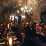 Medieval Banquet in the castle - plenty of food!
