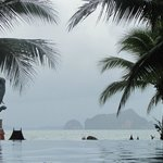 From the pool looking out to the islands - looks great even in bad weather