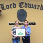 Lord Edward Accommodation Trip Advisor Certificate of Excellence 2013