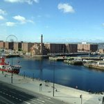 view from the lobby of Travelodge Liverpool Dock