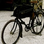 Bicycle used during WWII in Germany when rubber was not available to the civilian public