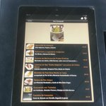 iPad Menu at restaurante Diana