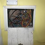 The wiring in our room.