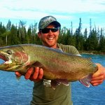 15 lb rainbow caught and released June 14