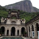 View of Christ the Redeemer from Parque Lage.