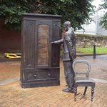 """The Searcher"", CS Lewis Wardrobe Statue"