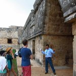 David (William Lawson Tours) explaining Mayan history