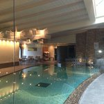 great indoor pool and roman shower w/ jacuzzi