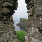 View from inside Dunluce Castle