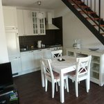 Kitchen, fully supplied with dining table
