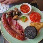 Breakfast at the Beckside Guesthouse, Keswick, England