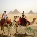 Camel ride at the Great Pyramids!