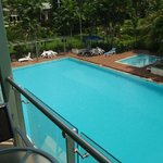 Madang Resort Pool, view from the restaurant.
