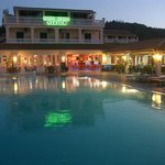 Alkyon Hotel in the evening