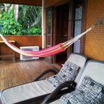 Hammock and banana lounges on your deck