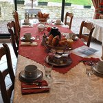Breakfast table at Les Clos Devalpierre