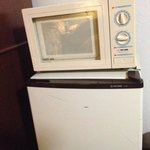 old microwave and smelly fridge!