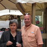 Dr. Ron with the Enchanting Hotel Torcolo Owner Aria Condizionata