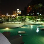 Luxor pool at night