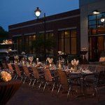 Social Terrace Wedding Reception