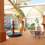 Covered patio for dining and private receptions. Holiday Inn
