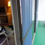 Access to the balcony through a sliding door in the room - a rarity in this day & age
