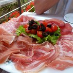 Huge antipasti platter