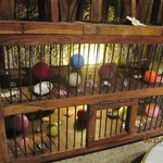Birdcage next to my table