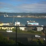 Day view of Yaquina Bay from the balcony