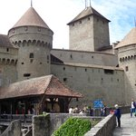 Outside Chateau de Chillon