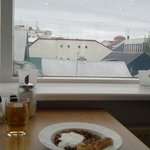 Breakfast table, overlooking Reykjavik