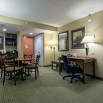A few of our suites offer a dining table! Perfect for families!