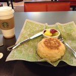 Bistro breakfast sandwich and coffee