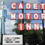 Cadet Motor Inn Coldwater Sign