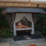 Bed for relaxation at one of the Spa villa