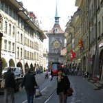 clock tower is landmark of Bern