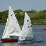 Wonderful day for Sailing Tamar Lakes near Forda Farm, farmhouse accommodation, Devon