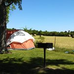 primitive tent sites adjacent to neighboring farm