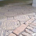 decorative tiles on sidewalk