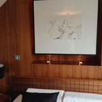 Art above the bed